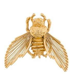 Vintage Monet Gold Tone Insect Brooch